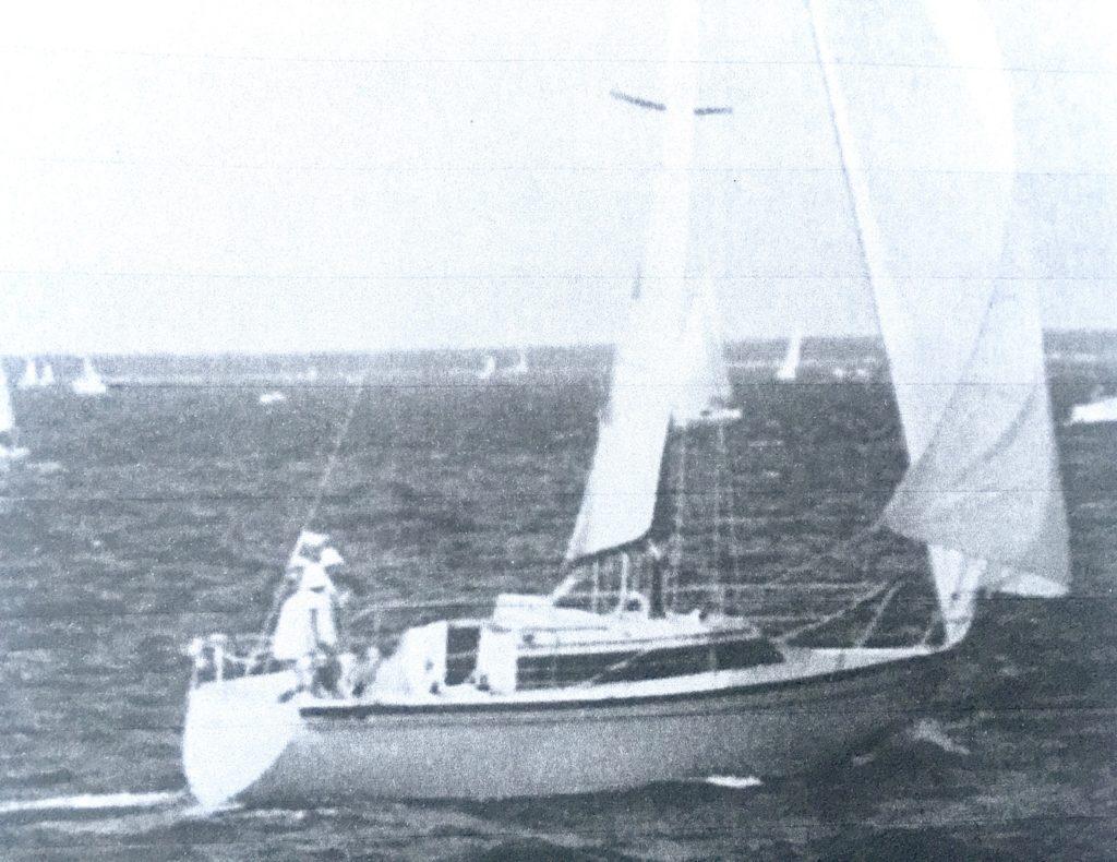 Voilier Dufour à l'entrainement sur la Bassin d'Arcachon