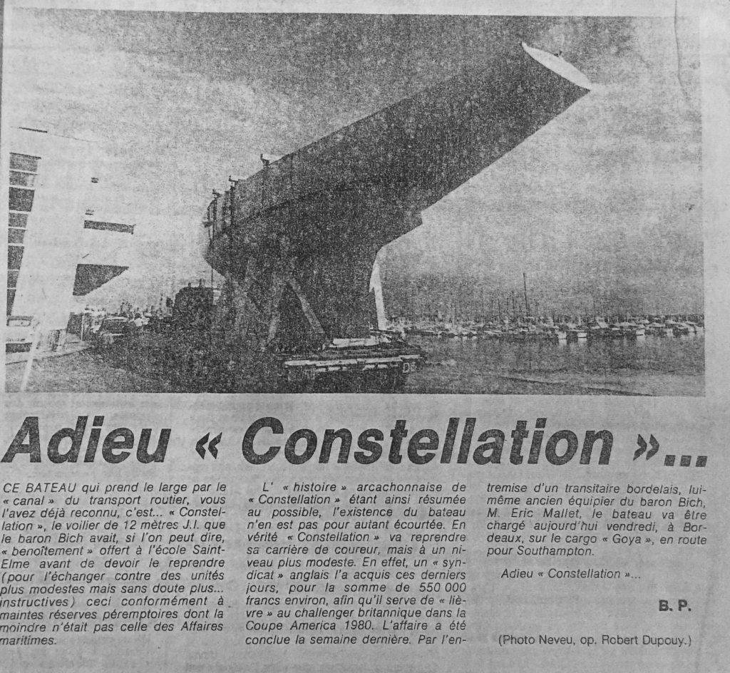 Le départ de Constellation d'Arcachon. Photo Neveu, Journal SO
