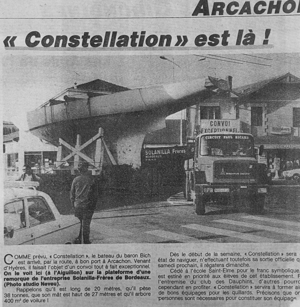 L'arrivée devant le Rally à Arcachon du 12m JI Constellation, Journal SO