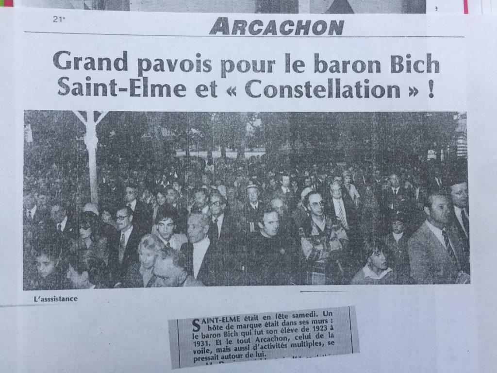 Grand pavois pour le Baron Bich au lycée Saint Elme. Photo SO