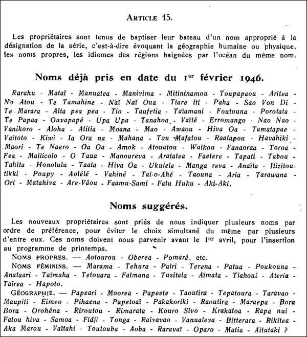 Les noms des Pacifics. Extrait du site leonc.fr