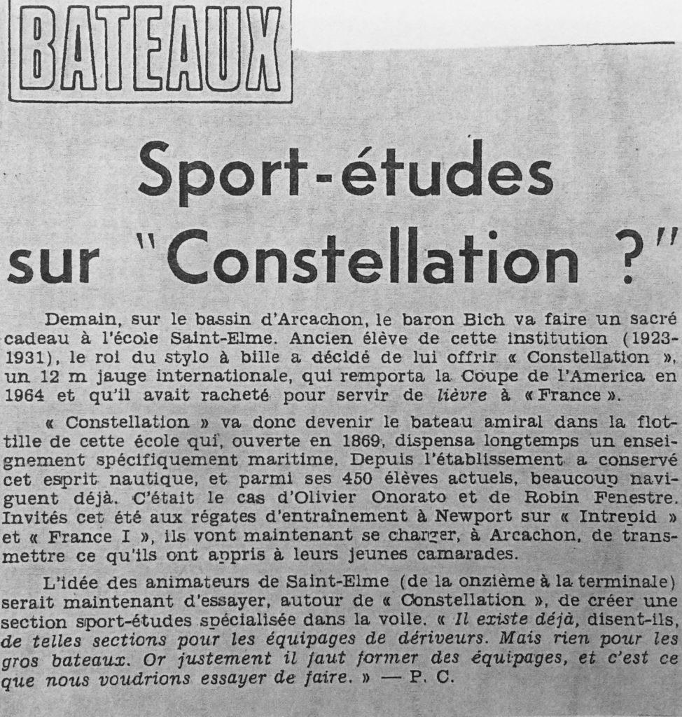 Sport-études sur Constellation