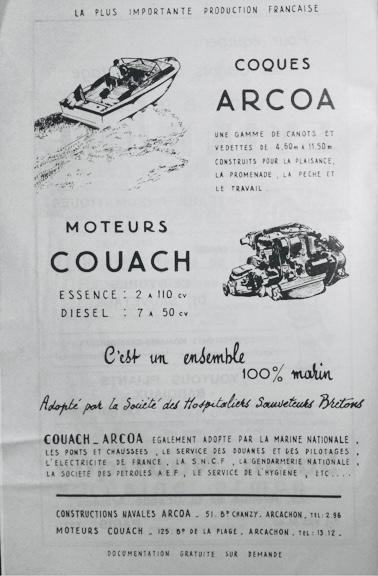 L'entreprise Arcoa équipée par les moteurs Couach, adoptée par la Société des Hospitaliers Sauveteurs Bretons