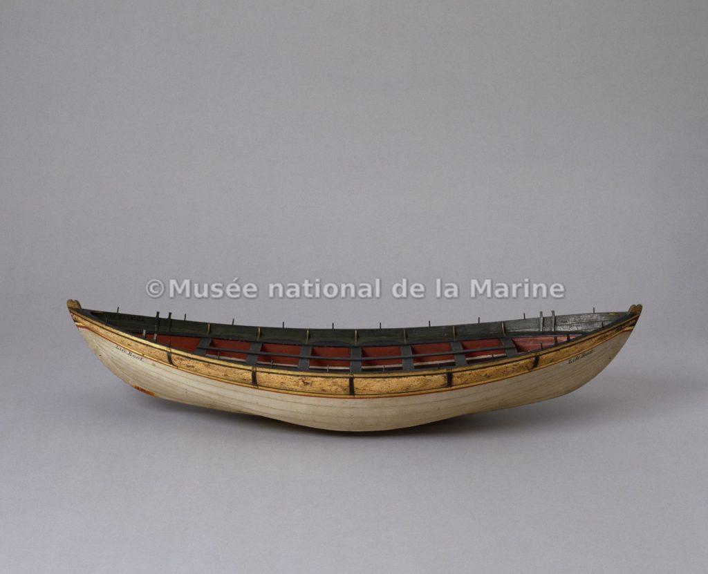 Maquette inspirée du bateau de M. Greathead, Musée national de la Marine