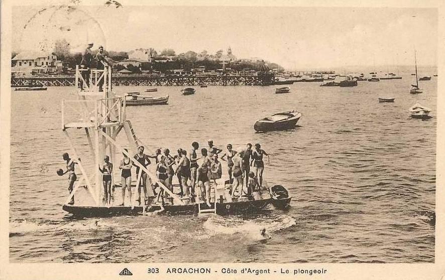 Le plongeoir de la plage d'Arcachon
