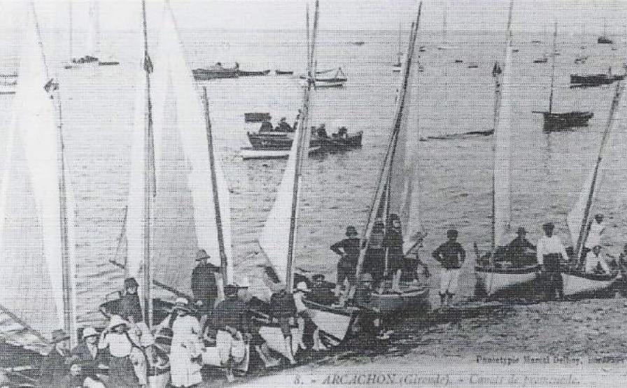 Les mototypes de Joseph Guédon sur la plage d'Arcachon