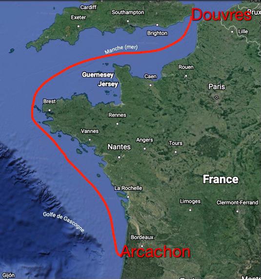 """""""L'épreuve"""" Arcachon - Douvres"""