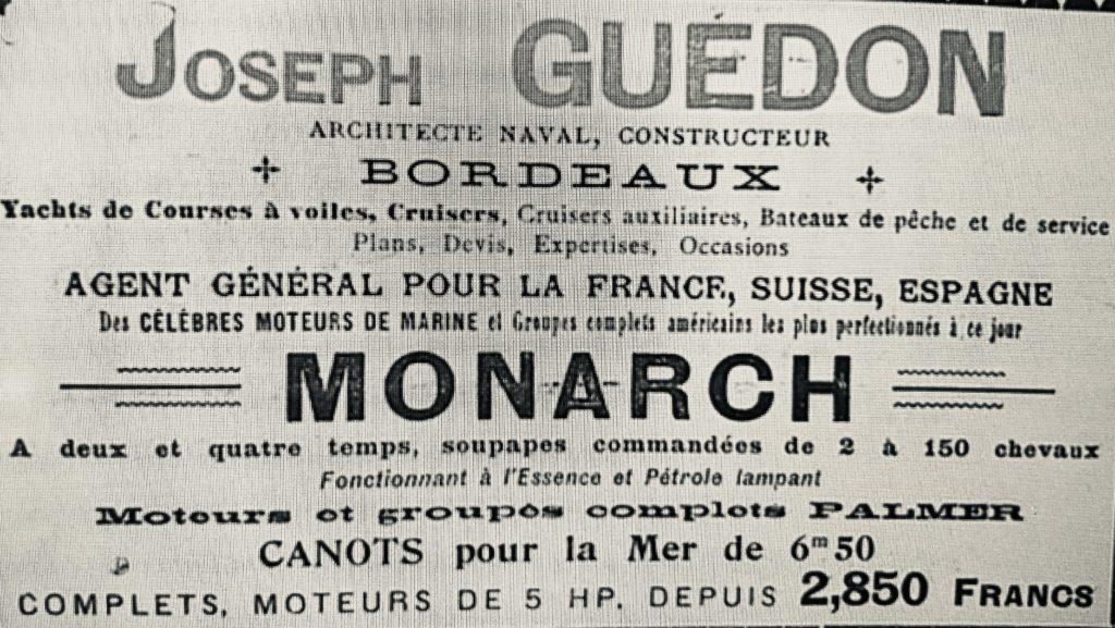 Joseph Guédon à Bordeaux, monotype