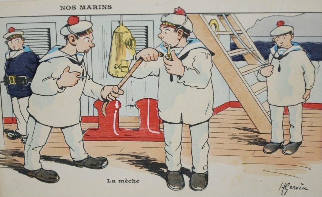 La mèche. Illustration de Charles Millot alias Henri Gervèse.