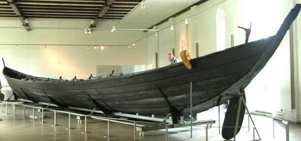 Drakkar exposé au musée danois de Roskilde