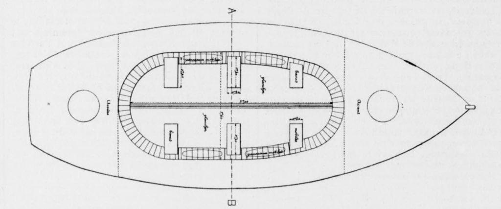Plan du canot de sauvetage d'Albert Henry