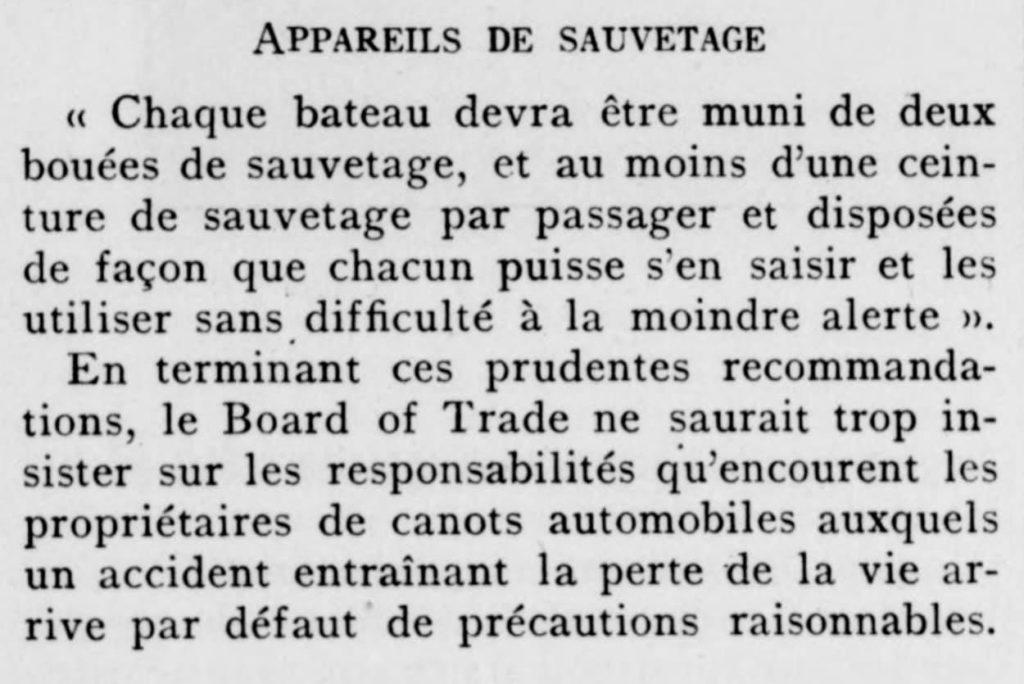 Revue Le Yacht 1910
