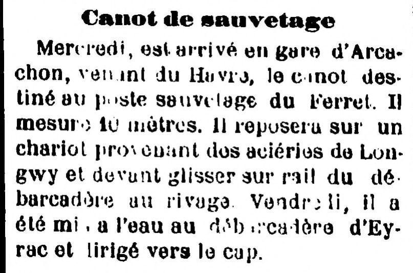Arcachon-Journal, 26 juin 1904