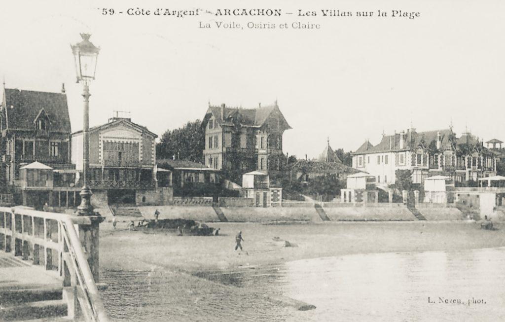 La villa Claire située à coté du Yachting Club d'Arcachon