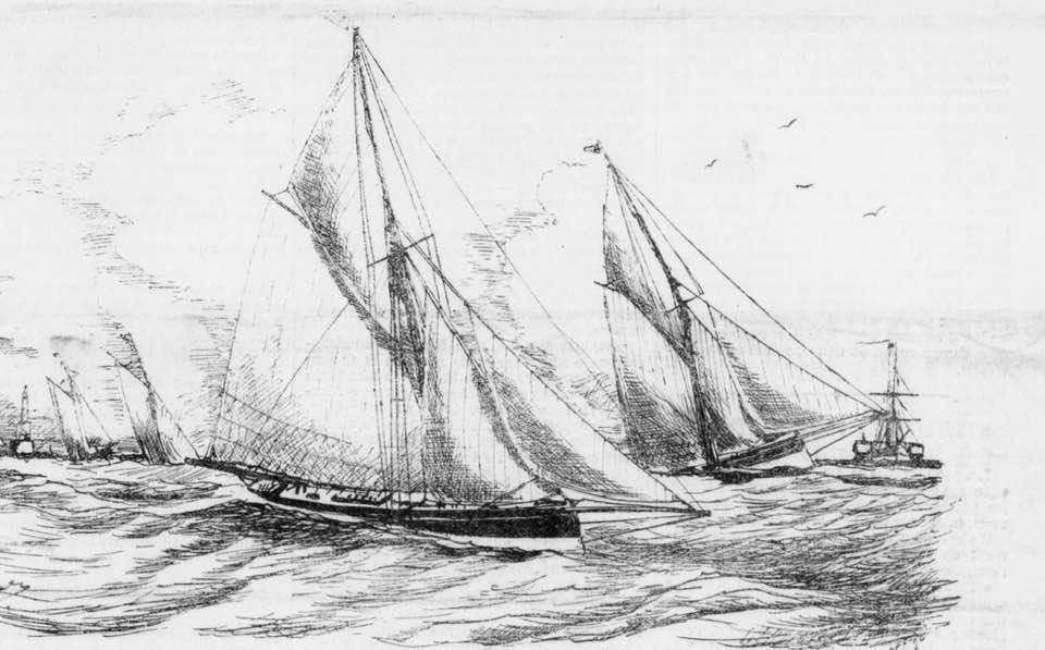 Le yacht Peau-Rouge lors de la régate Arcachon-La Rochelle