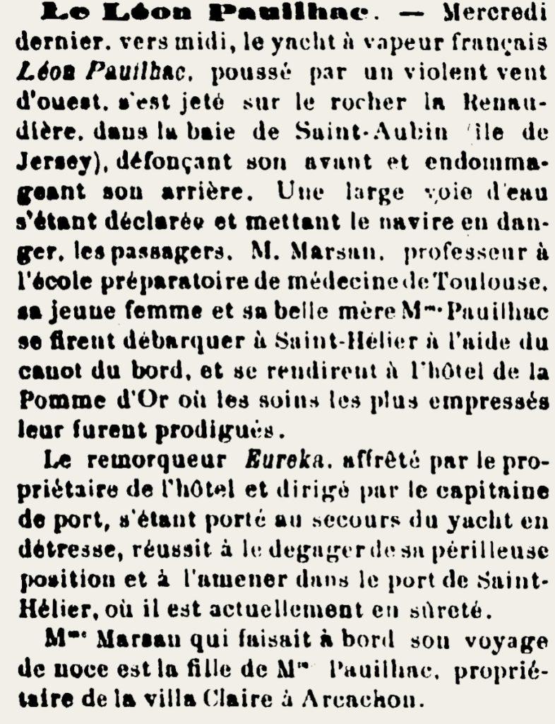 L'Avenir d'Arcachon, 17 juillet 1897