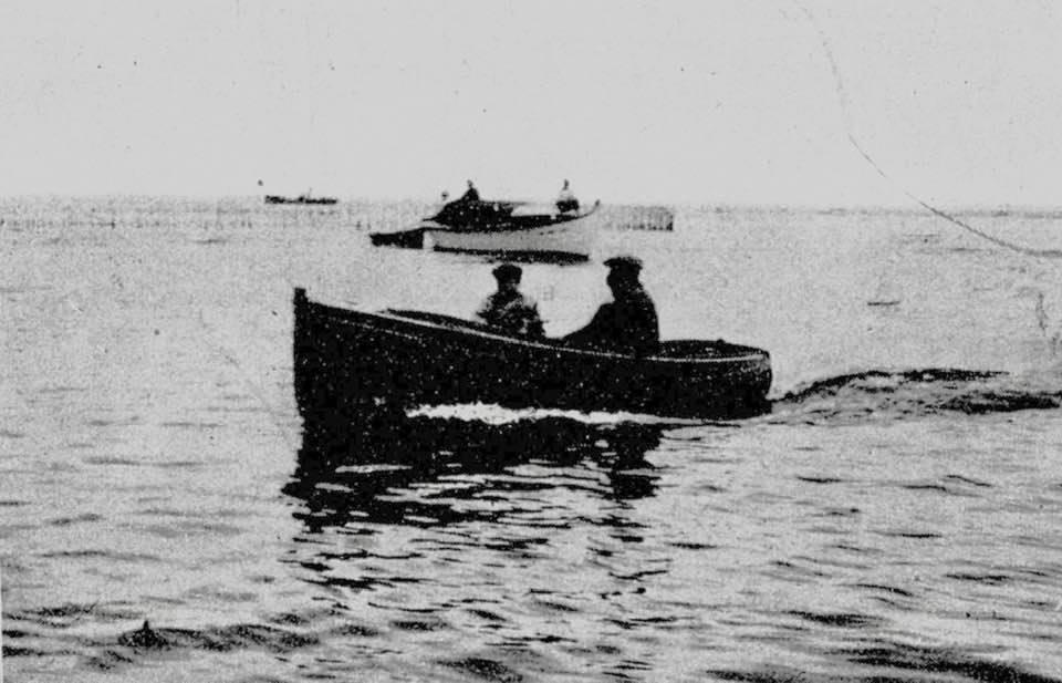 Un canot de bossoir du chantier naval Bossuet