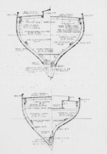 Plan Joseph Guédon dont est inspiré le ketch M'Amie